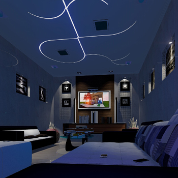 home cinema with surround sound